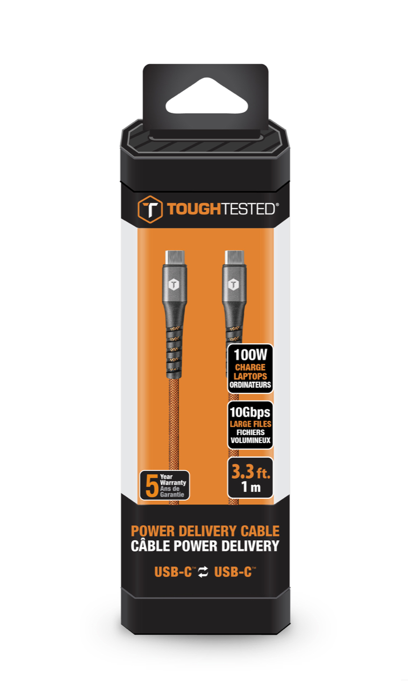 3.3 Ft. PRO Armor Weave Cable 100w PD Power Handling, 10gbps Data Transfer