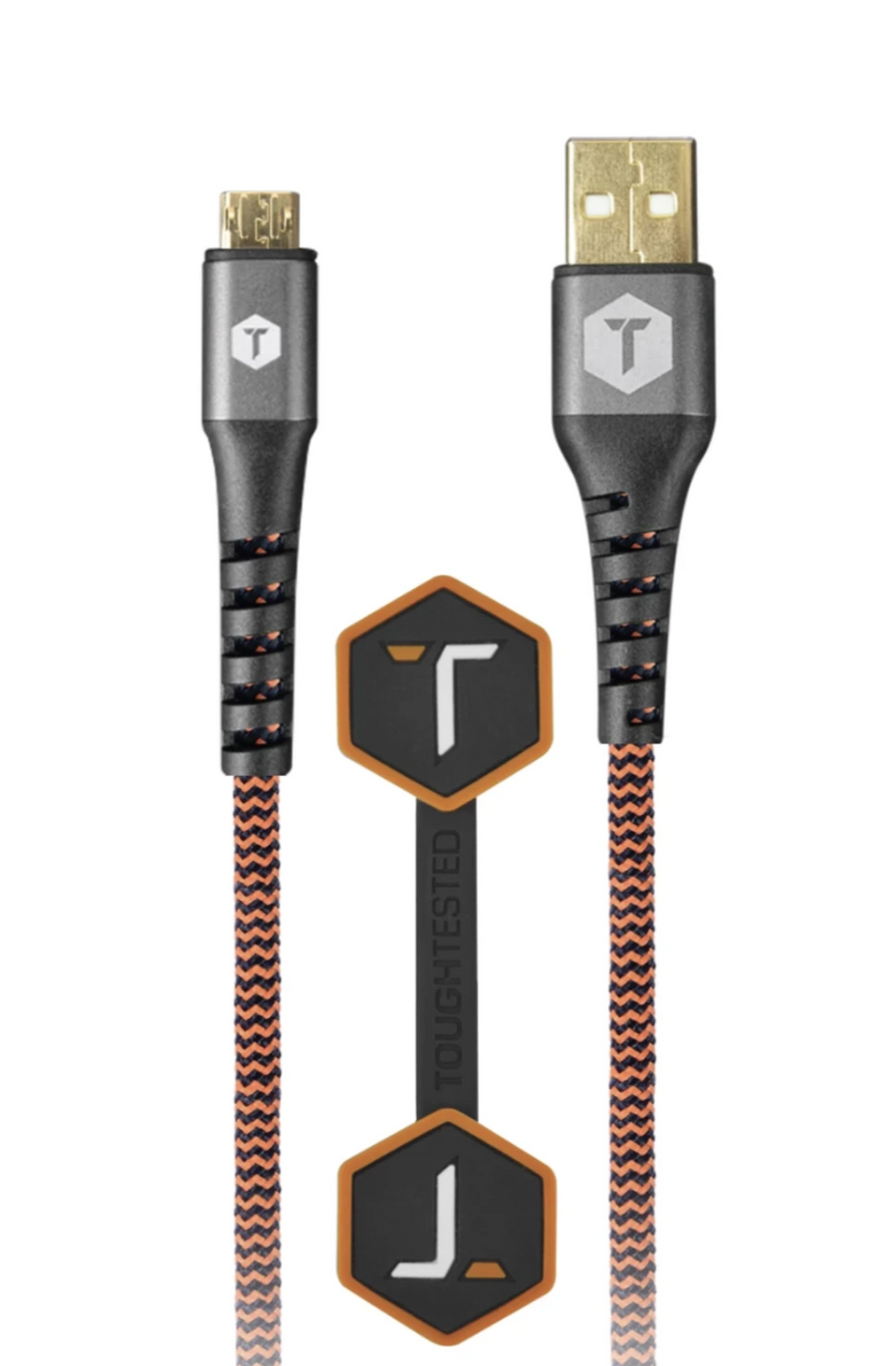 Braided 6 Ft. USB Cable with Micro-USB Connector