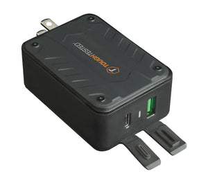 Powershare Pro 33w Dual High Speed USB C/A Wall Charger with Port Dust Covers