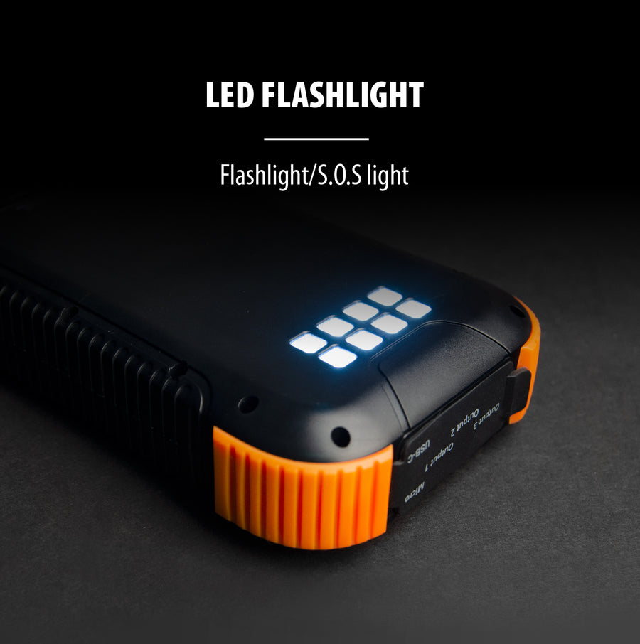 30,000mAh Power Bank with Flashlight + 45W PD Fast Charging Technology