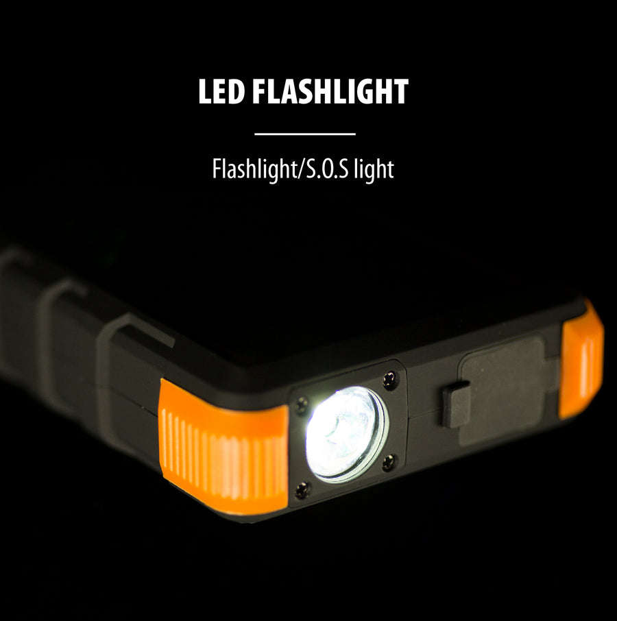 20,000mAh Solar Power Bank with Flashlight + PD Fast Charging Technology