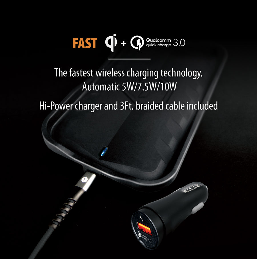 10 Watt Fast Wireless Charging Pad with Qualcomm Quick Charge 2.0