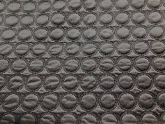 Black Circle Quilted Fabric