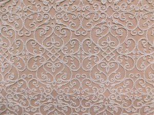 Embroidered Medallion Swirls Fabric