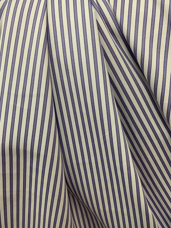 Lavender/White stripe cotton fabric