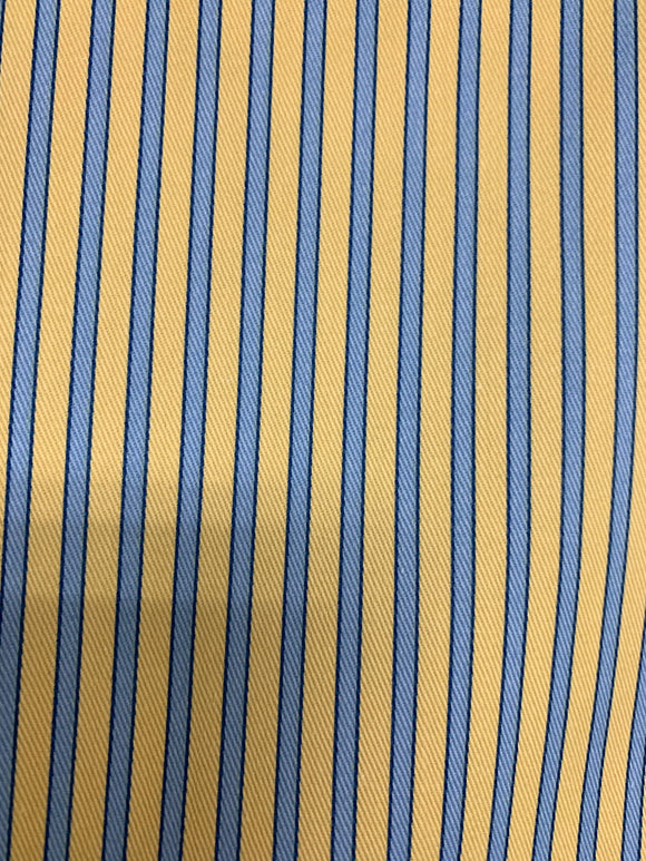 Yellow/Blue stripe cotton fabric