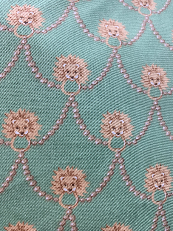 Lion Medallion cotton fabric