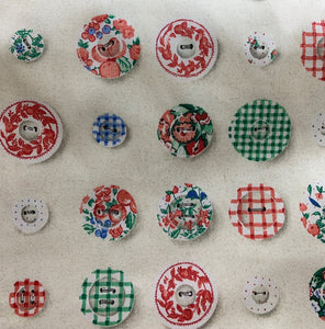 Button print cotton fabric