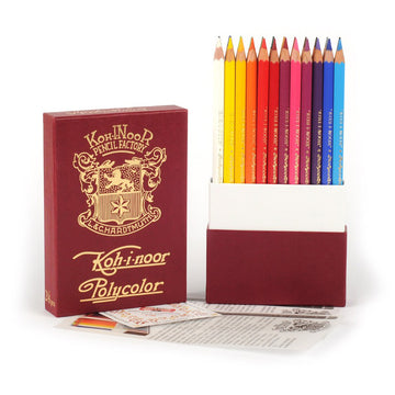 Koh-I-Noor Polycolor Retro 24 Color Pencil Set
