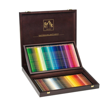 Caran d'Ache Wood Gift Box – 80 SUPRACOLOR Soft Aquarelle Pencil Set