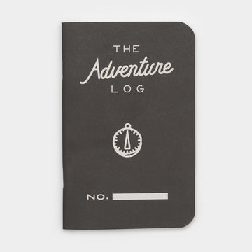 Word. Notebooks Adventure Log Black