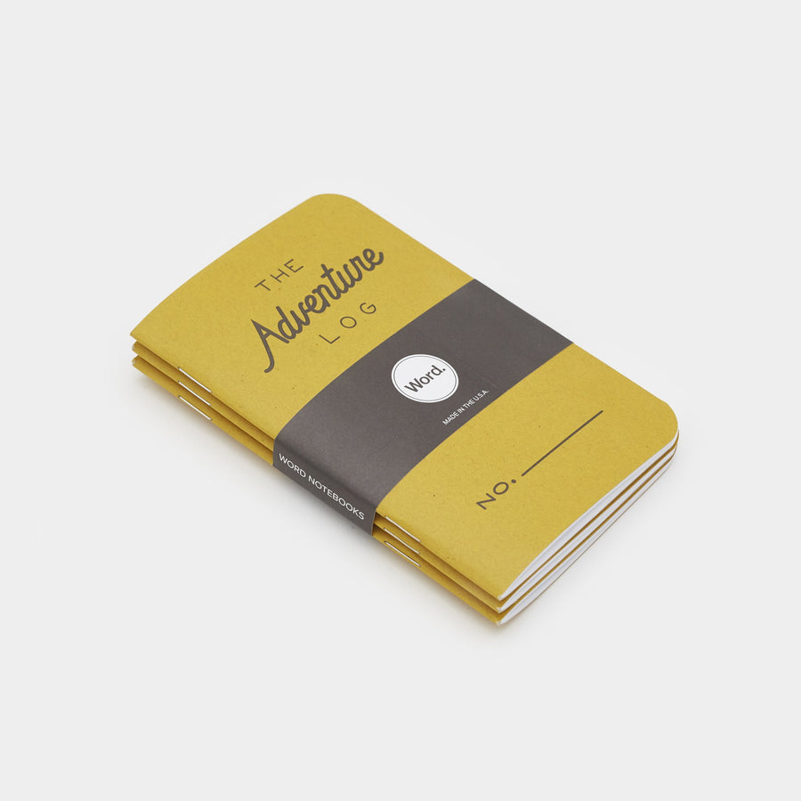 Word. Notebooks Adventure Log Yellow