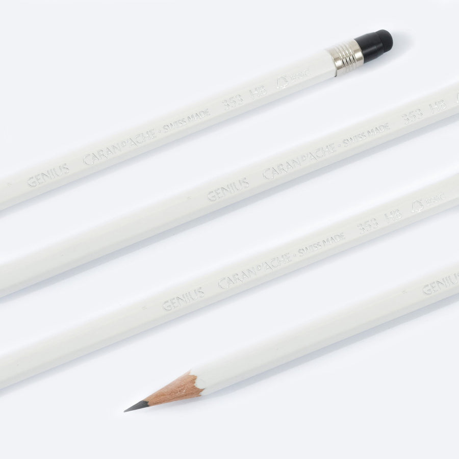 Caran d'Ache Genius Pencils - White