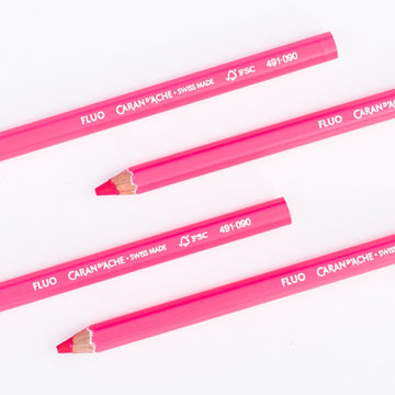 Caran d'Ache Couleurs Fluo Highlighter Pencils - Pink