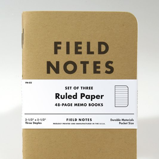 Field Notes Original Memo Books (3-Pack)