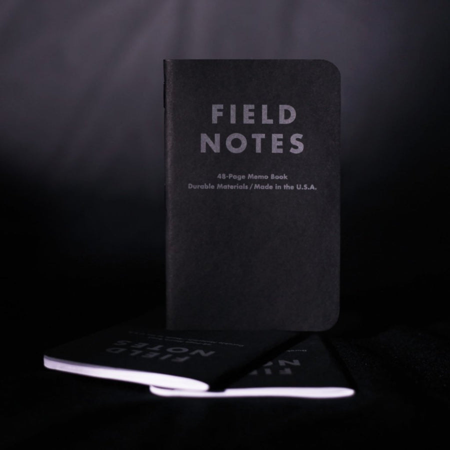 Field Notes Pitch Black Memo Books (3-Pack)