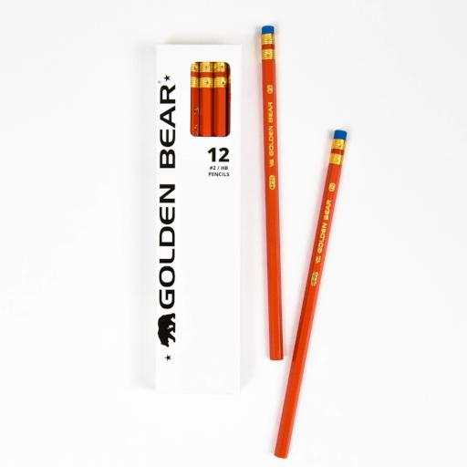 Golden Bear Orange #2 Pencils (12 Pack)