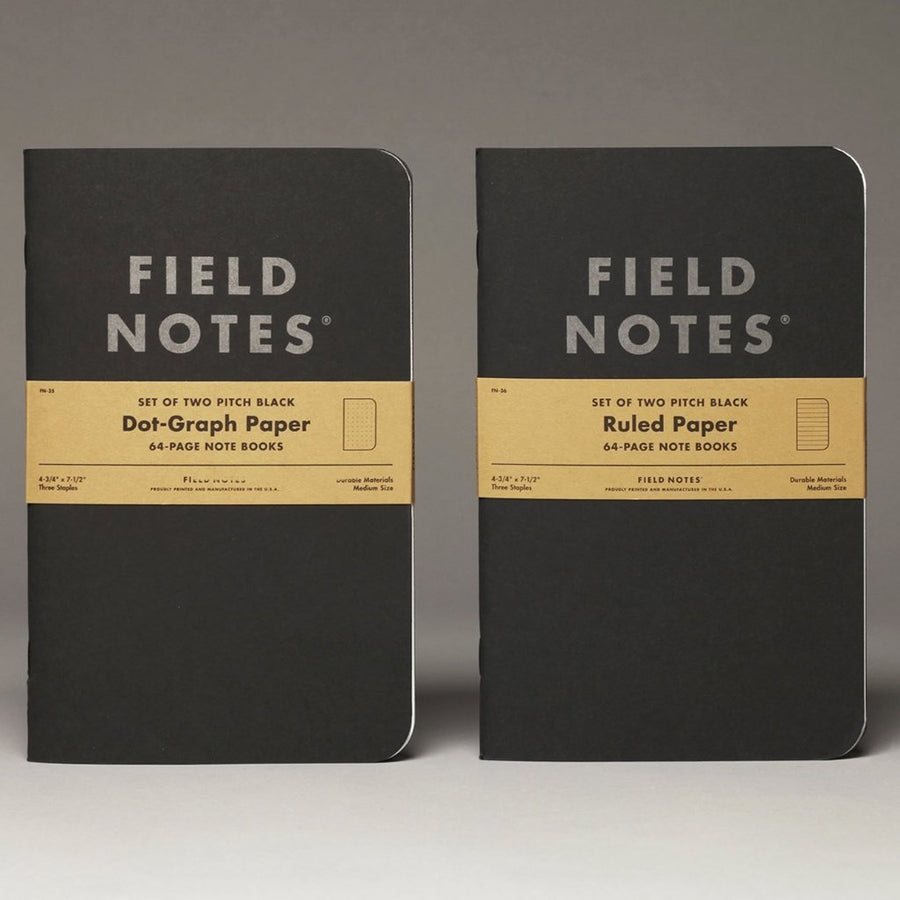 Field Notes Pitch Black Note Books (2-Pack)