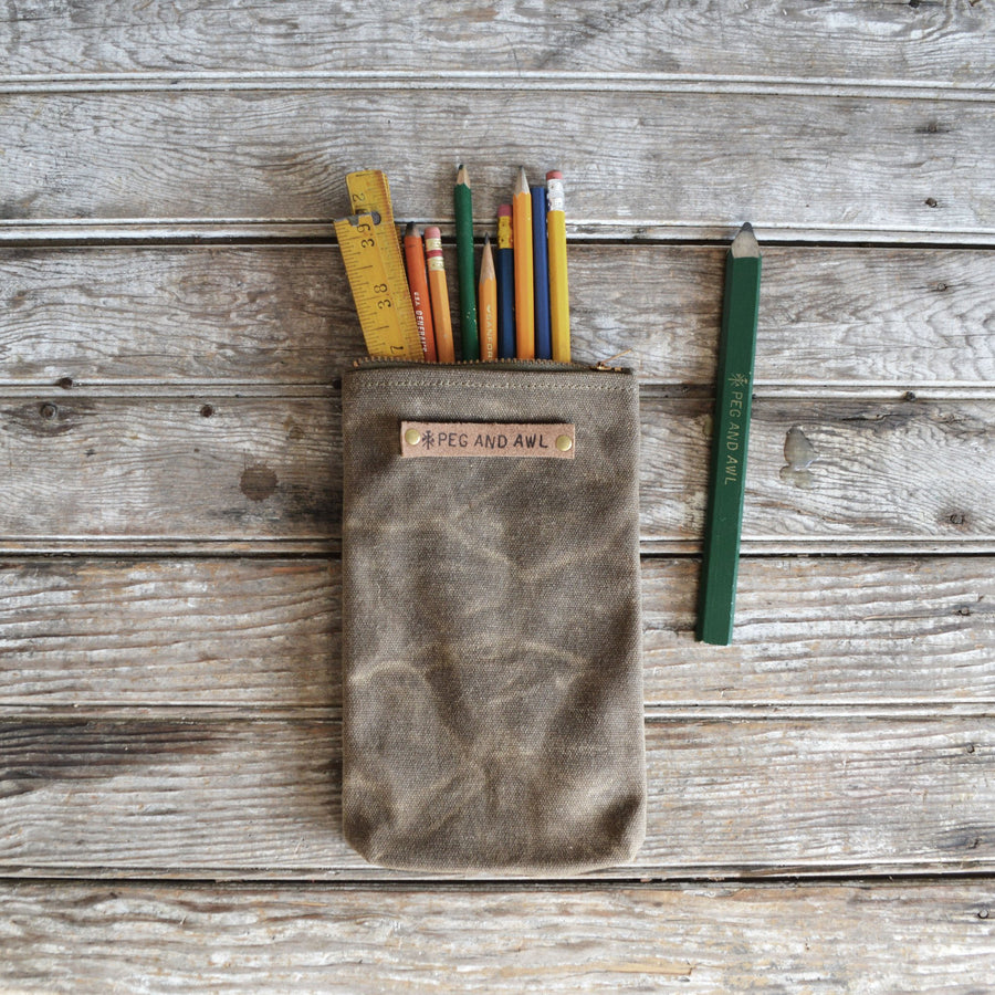 Peg and Awl Scribbler Pouch - Tumbleweed