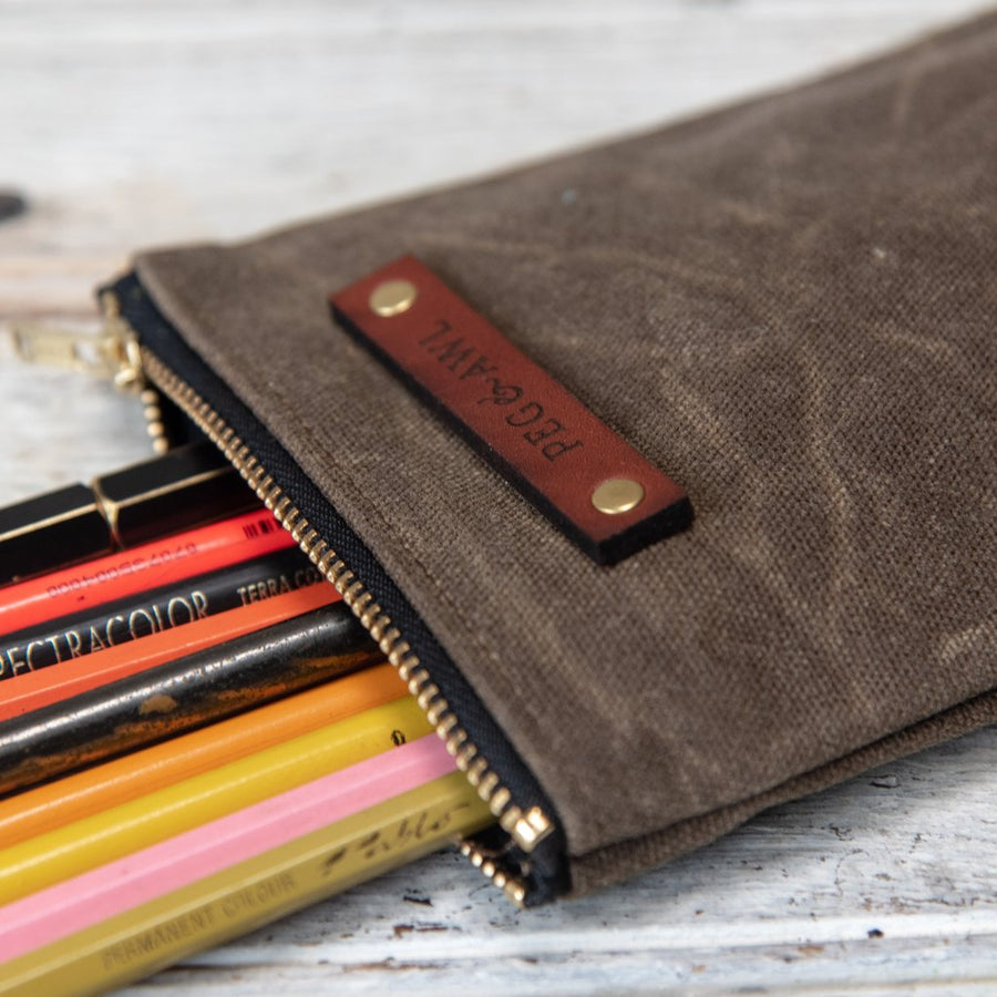 Peg and Awl Scribbler Pouch - Truffle