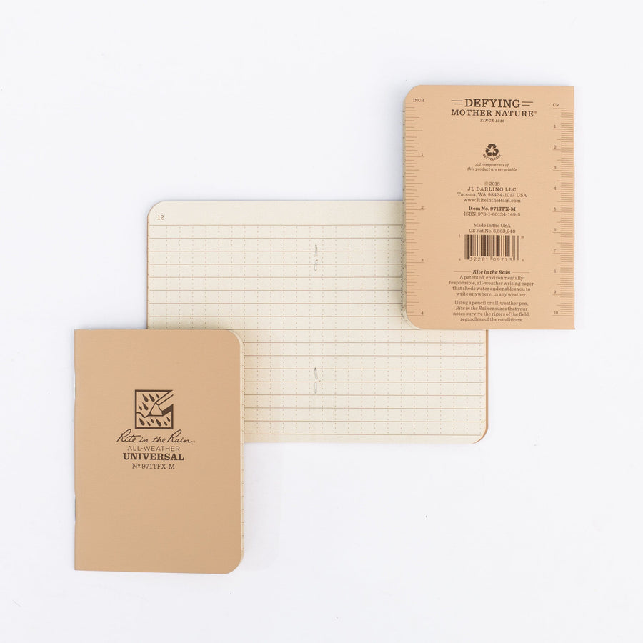 Rite in the Rain Mini-Stapled Notebook 3-Pk