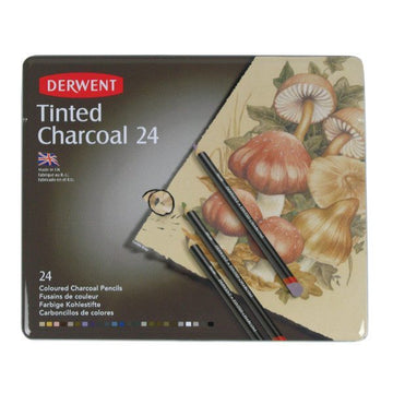 Derwent Tinted Charcoal (24 Pack)