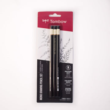 Tombow MONO Drawing Pencil Set 3 Pk