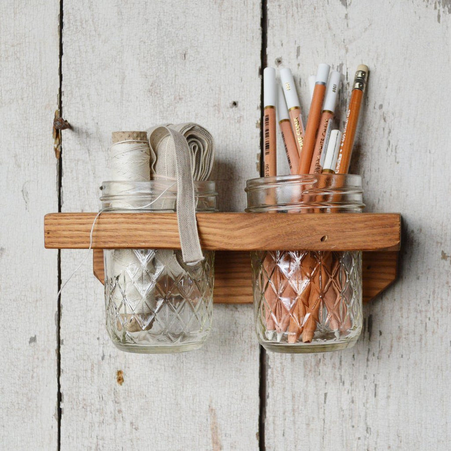 Peg and Awl Landis Wall Caddy - 2 Jar