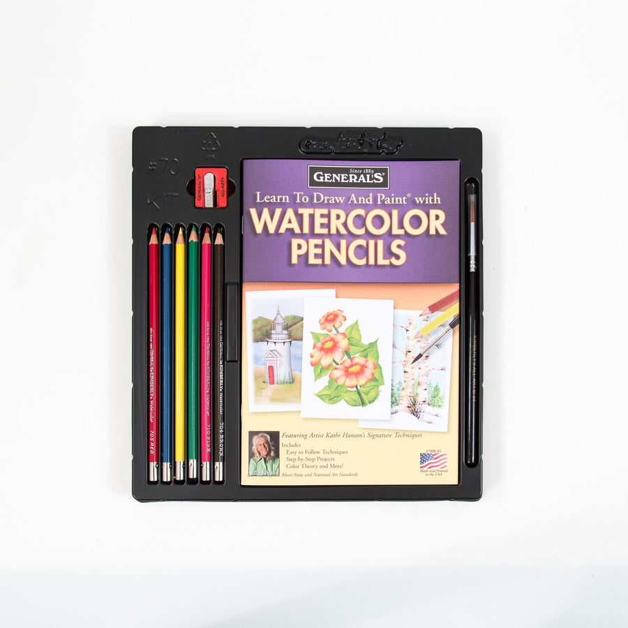General's Watercolor Pencil Techniques Set