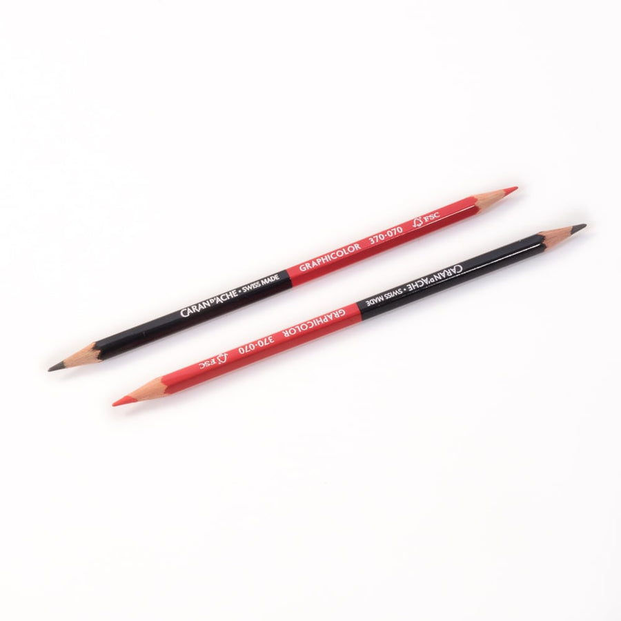 Caran d'Ache Graphicolor Pencils - Red/Graphite