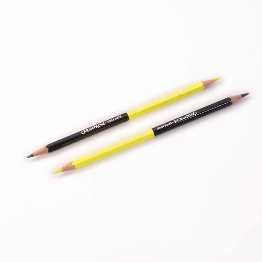 Caran d'Ache Graphicolor Pencils - Yellow/Graphite
