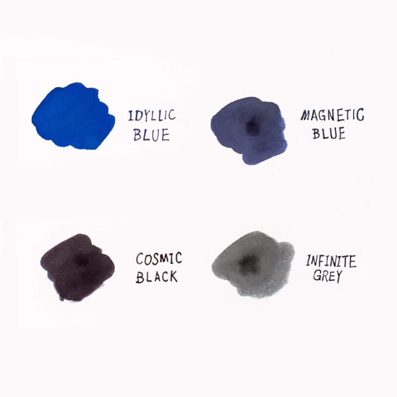 Caran d'Ache Chromatics Fountain Pen Ink Cartridges - Color Sample