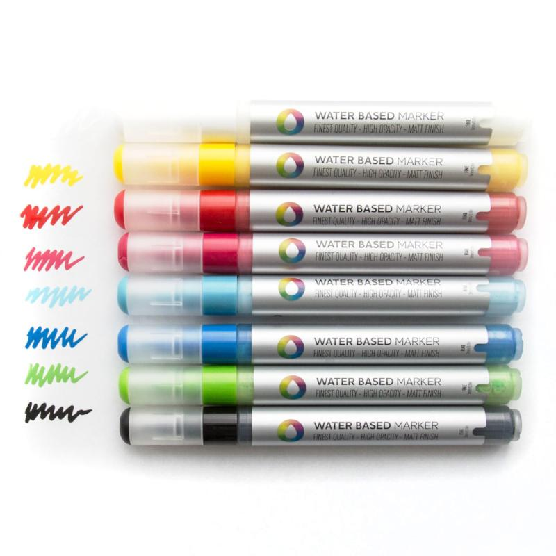Montana Colors 5mm Water Based Paint Markers (8-Pack) - Color Sample