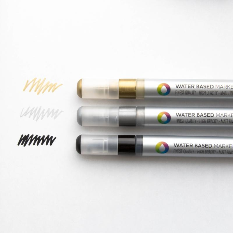 Montana Colors Water-based 3mm Metallic Markers (3-pack)