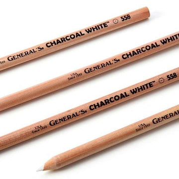 General's White Charcoal Drawing Pencils (2 pack)