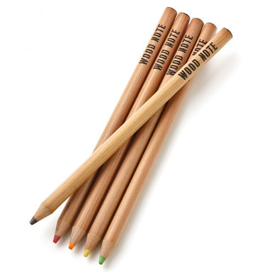 Kitaboshi Wood Note Highlighter Jumbo Pencils (5 Pack)