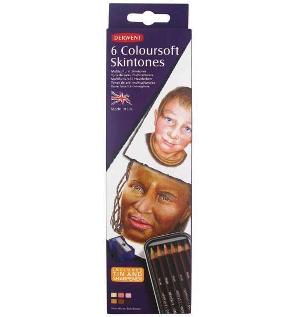 Derwent Coloursoft Skin Tone Color Pencils (6 Pack)