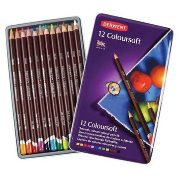 Derwent Coloursoft Color Pencils - 12 Pk