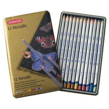 Derwent Metallic Pencils (12 Pack)