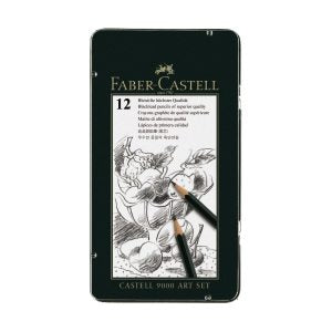 Faber-Castell Castell 9000 Graphite Drawing Pencil Art Tin