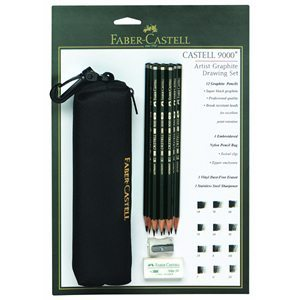 Faber-Castell Castell 9000 Drawing Pencil Bag Set