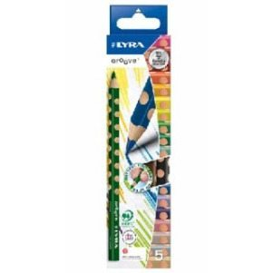 Lyra Groove Triangular Colored Pencils - 5 Pk