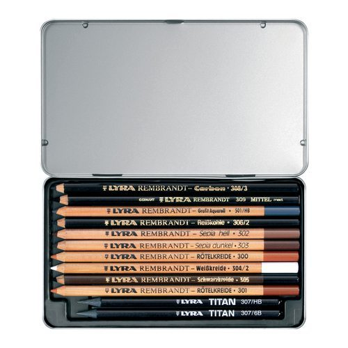 Lyra Rembrandt Art Specials Assorted Drawing Pencils 12 Count Set