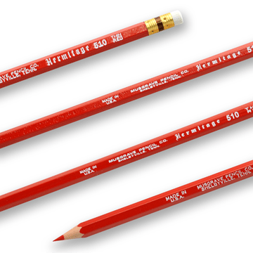 Musgrave Hermitage 510 Thin Red Pencils (12 Pack)