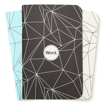 Word. Notebook Polygon Mix Pack