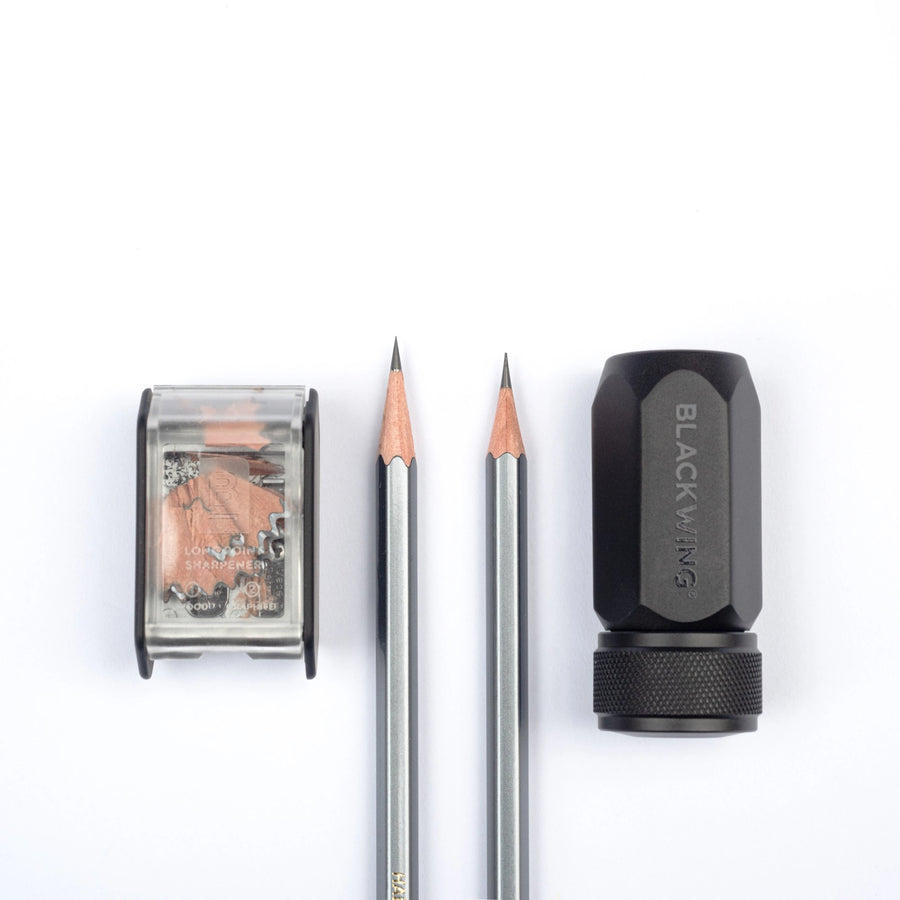 Blackwing Two-Step Long Point Sharpener Point Comparison