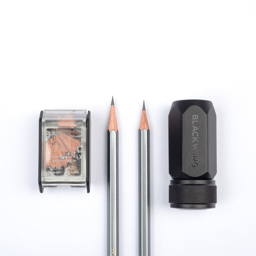 Blackwing One-Step Long Point Sharpener Point Comparison
