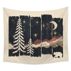 Starry Night in the Mountains Tapestry