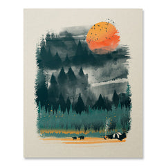 Wilderness Camp Print