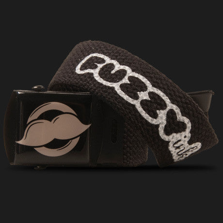 Mustache Logo Belt (Black)